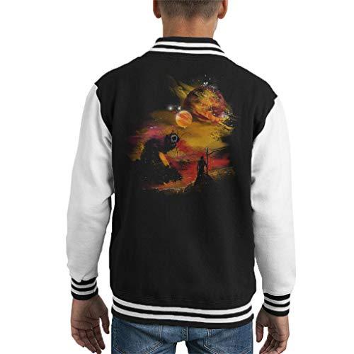 Dune Sunset On Arrakis Kid's Varsity Jacket