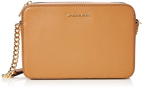 b9acb89c7e542 Michael Kors Jet Set Large Saffiano Leather Crossbody - Acorn