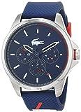 Lacoste Hommes Multi-cadrans Quartz Montres bracelet avec bracelet en Silicone -...