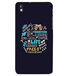 HTC DESIRE 816 TEXT Back Cover by PRINTSWAG