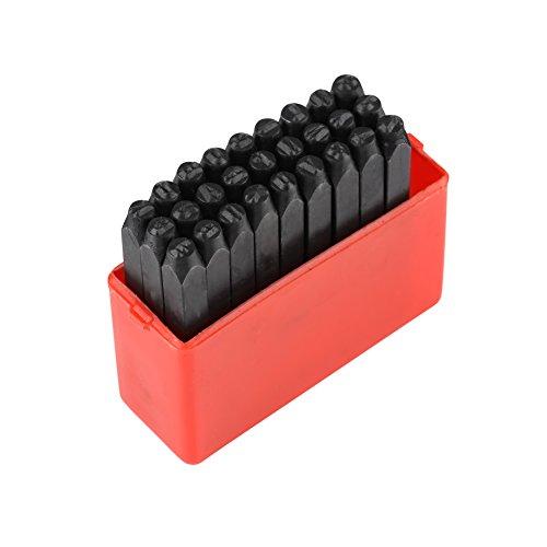 Kohlenstoffstahl 3mm Stahl Briefmarken Punch Set Alphabet/Zahlen Punch Metall Stempel Handwerk Werkzeug Kit(letter)
