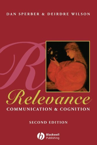 Relevance: Communication and Cognition 2nd edition by Sperber, Dan, Wilson, Deirdre (1996) Paperback