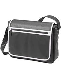HALFAR - sac rétro sacoche bandoulière étudiant imitation cuir 1807541 - gris - mixte homme/femme