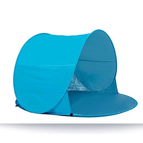 Familien-Reise-Zelt-im Freien automatischer doppelter Strand-Zelt-Fischen-Behälter-geöffnetes automatisches Zelt ( Farbe : Hellblau ) (Angel Regal Fisch)