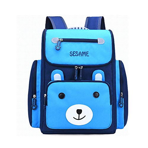 LLX Children's Schoolbag is Suitable for Children Over Three Years Old with Shoulder Ridge Protection and Water-Proof Schoolbag for Children Blue Ridge Rose