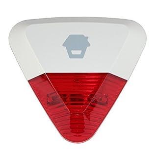 Chuango WS-280 Funk Außensirene / Alarmsirene mit LED Stroboskop Blinklicht ROT für Alarmsysteme G5 und O2