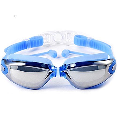 Schwimmbrille Schwimmen Brille für Erwachsene Herren Frauen Youth Kids Kinder, mit Anti-Fog, wasserdicht, Herren, blau (Flag Speedo)