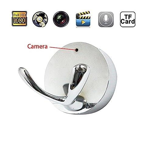 Mengshen HD 1080P Grand angle Lens Clothing Hook Design Spy Hidden Camera Coat Hanger DVR Enregistreur vidéo pour la sécurité à domicile Nanny Cam