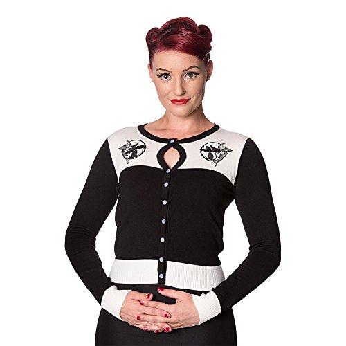 Cadigan Da Donna Harper Banned (Bianco/Nero) Bianco/Nero