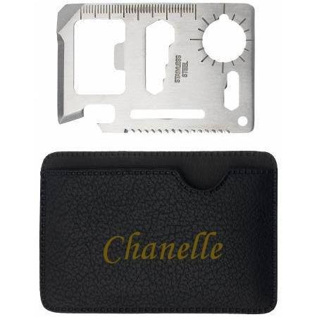 Preisvergleich Produktbild Mehrzweckwerkzeug mit gravierten Halter mit Namen: Chanelle (Vorname/Zuname/Spitzname)