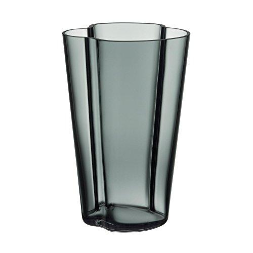 Iittala Aalto Vasen, Glas, Dunkelgrau, 6 x 10 x 22 cm