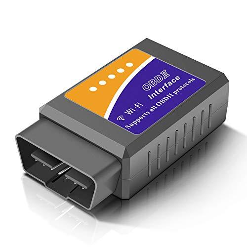 Temfly OBD, OBD2 Scanner WiFi Diagnostique Voiture Valise Diagnostic Multimarque Compatible with iOS, Android,Windows Valise Diagnostic Auto- Support la Plupart des Voitures