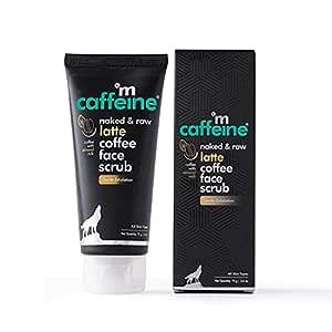 mCaffeine Latte Coffee Gentle Exfoliating Face Scrub | Retains Moisture, Refines Uneven & Rough Skin | Almond Milk, Shea Butter | All Skin Types | Paraben & Cruelty Free
