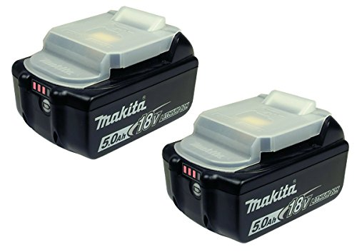 Preisvergleich Produktbild Makita BL 1850 B Ersatzakku 18 V - 5 Ah- Li-Ion mit LED Ladestandanzeige 2er Pack
