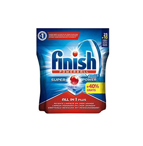 Finish Todo en 1 Plus Lavavajillas pastillas Regular - 25 +40% (35 pastillas)
