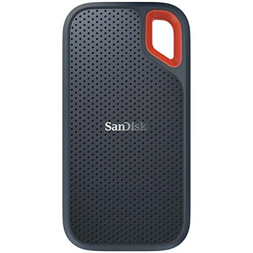 SanDisk Extreme Portable SSD 500GB (Externe SSD 2.5 Zoll, bis zu 550 MB/s Lesegeschwindigkeit, wasserdicht und staubdicht) -