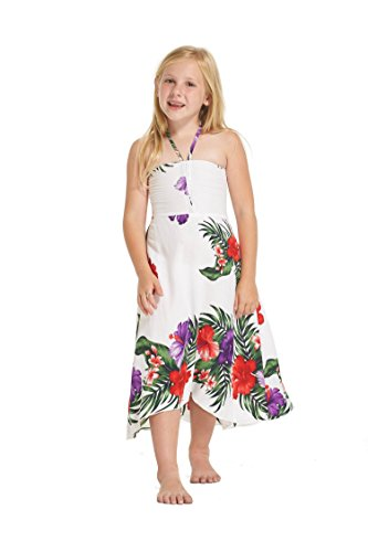 Vestido-hawaiano-de-la-mariposa-de-la-muchacha-en-blanco-con-el-floral-floral-prpura-Tamao-8