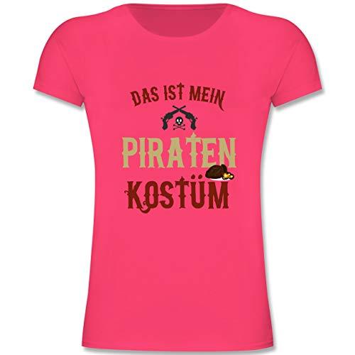 Karneval & Fasching Kinder - Das ist Mein Piraten Kostüm - 116 (5-6 Jahre) - Fuchsia - F131K - Mädchen Kinder T-Shirt