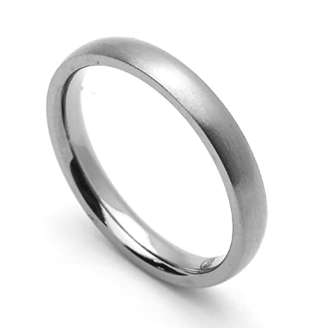 Little Treasures 3MM Comfort Fit Titanium Wedding Band Classic Domed Ring