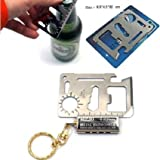 #3: Outdoor Multi Function Mini Emergency Survival Credit Card Knife camping Tool 11 in 1