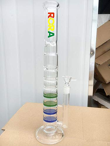 Rohr Percolator (Neuer Stil Glas Bong Glas Wasserpfeife With 6 Honeycom and 1 Whirl Percolator Glas Wasser Rohre)