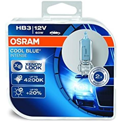 Osram 9005 Cool Blue Intense HB3 Lámpara Halógena de Faros, 12 V, 60 W, en Duo