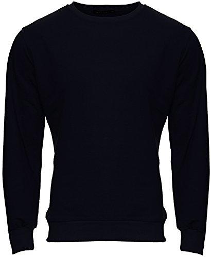 Merish Herren Pullover Pulli Roundneck Hoodie Sweatshirt Sweater Neu 233 Dunkelblau M