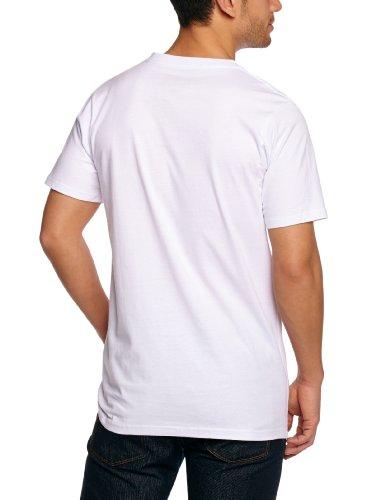 Altamont Herren T-Shirt Stacked weiß - Weiß/Marineblau