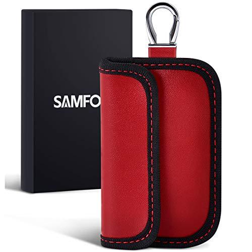 Samfolk Mini Faraday Bolsa para Llaves de Coche Funda para Bloqueo de señal de Llave de Coche (1 Paquetes) Jaula de Accesorios de Seguridad para Llave RFID de Coche