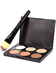 Bulary Palette Contouring Contour Kit 6 Couleurs avec Pinceau Maquillage Highlighter