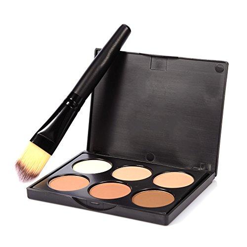 Bulary Palette Contouring Contour Kit 6 Couleurs avec Pinceau Maquillage Highlighter