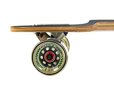 MAXOfit® Deluxe Longboard GeoLines Bamboo No.96, Drop Through, 96,5 cm, 4 Schichten, ABEC11