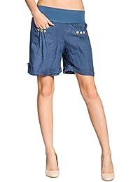 CASPAR BST002 Damen Leinen Shorts