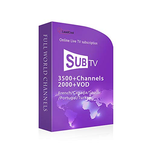 One Year Subtv 3400+ Support Full European like France/Germany/Italia/UK Canada Brazil Packages VOD EPG APK M3U Mag Supported