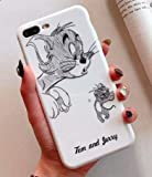 Art-design Custodia per iPhone 7+ Plus/iPhone 8+ Plus Tom e Jerry Cat Smile Cat And Mouse Disney Cover Caso Silicone