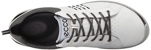 Ecco 2016 Mens Biom Hybrid 2 Gore Tex Golf Shoes – White/Black – UK 8-8.5 EU 42