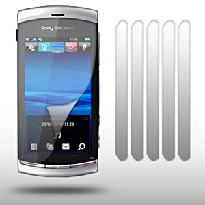 SONY ERICSSON VIVAZ CRYSTAL CLEAR LCD SCREEN PROTECTOR 6-IN-1 PACK BY CELLAPOD CASES
