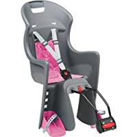 Fahrrad Kindersitz Hinten POLISPORT Boodie Grau Rosa (Montage an Rahmen), Hobby, Sport, Freizeit > Kinderfahrräder