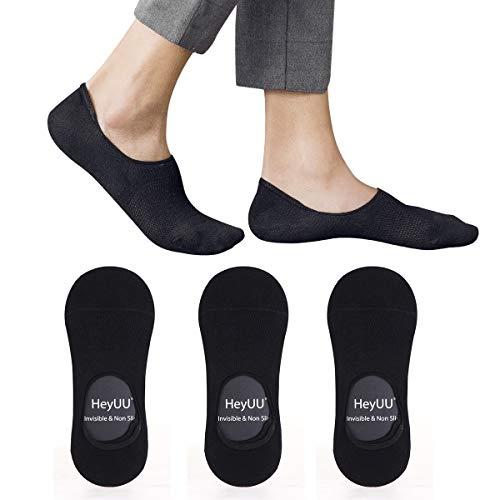 HeyUU Herren & Damen Baumwolle Füßlinge Unsichtbare Sneaker Socken Mit 8 Rutschfeste Silikonstreifen Nicht Fallen Socken