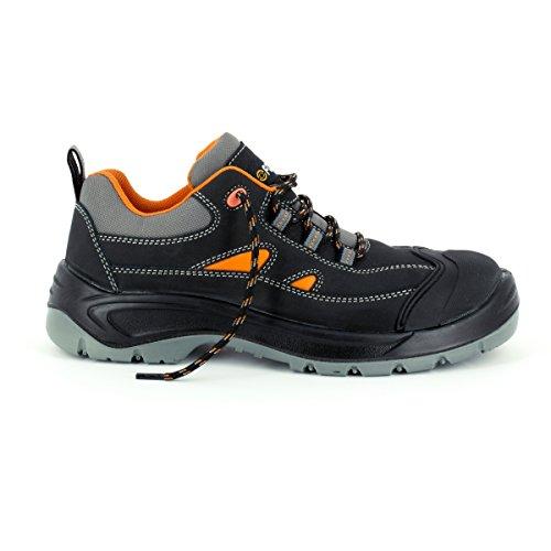 Foxter Chaussures de Sécurité Basses Canyon - Légères et Souples - Cuir et Textile Respirant - Homme/Mixte - S3 SRC WRU Cuir