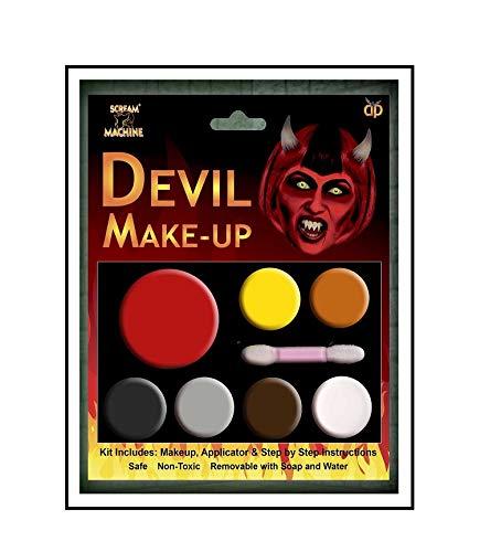 """Scream Machine, Schminkset """"Zombie"""" für Halloween, mehrteilige Palette Gr. Einheitsgröße, Devil MakeUp Kit (Scary Fairy Halloween-make-up)"""