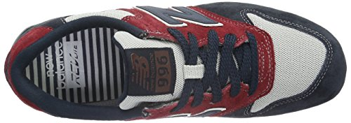 New Balance Mrl996v2, Baskets Basses Homme Multicolore (Grey/Red/Blue)