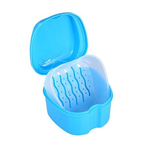 CARACTERISTICAS:HIGIENE DE DENTURA MEJORADA: nuestra increíble caja de dentaduras de diseño ayuda a mantener un alto nivel de higiene de las dentaduras al proporcionar un espacio de almacenamiento limpio para sus dentaduras postizas, dientes falsos, ...