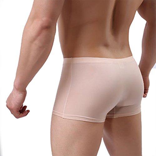 YiZYiF Herren Boxershorts Pant Stretch Unterwäsche Unterhosen Seamless Hipster Sport Slips Retroshorts M-XXL Nackt