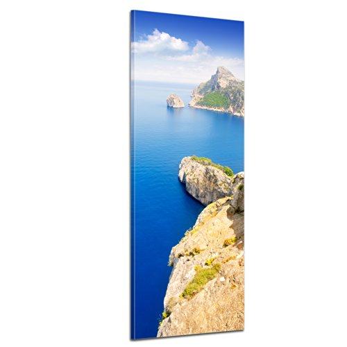 Wandbild - Cap Formentor - Mallorca - Bild auf Leinwand - 30x90 cm - Leinwandbilder - Landschaften - Spanien - Kap - Steilküste