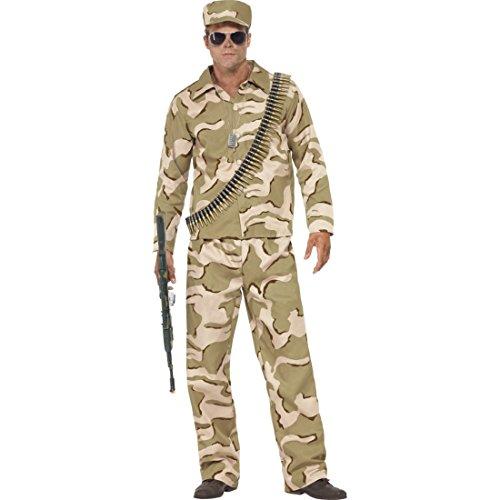 Bundeswehr Männerkostüm Army Kostüm Soldat Herren L 52/54 Soldatenkostüm Militär Tarnanzug Männer Uniform Military Outfit Faschingskostüm (Männer Für Armee Outfits)