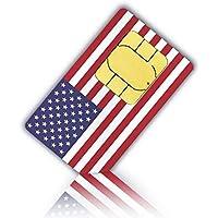Prepaid Sim-Karte USA - 4GB 4G LTE - Unbegrenzte internationale Anrufe und Sms - 30 Tage