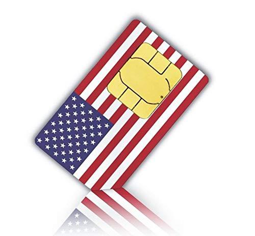 Prepaid Sim-Karte USA - 5GB 4G LTE - Unbegrenzte internationale Anrufe und Sms - 30 Tage -