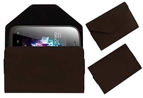 Acm Premium Pouch Case For Micromax A52 Flip Flap Cover Holder Brown  available at amazon for Rs.329