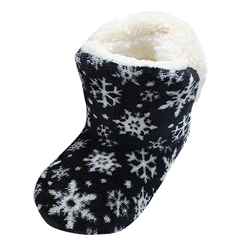 Winter Warm Plush Boots Indoor Outdoor Ankle Boot for Womens Girls Warmer Shoes Cotton Coral Fleece Pure Slipper Anti-Slip Sole Thermal Booties
